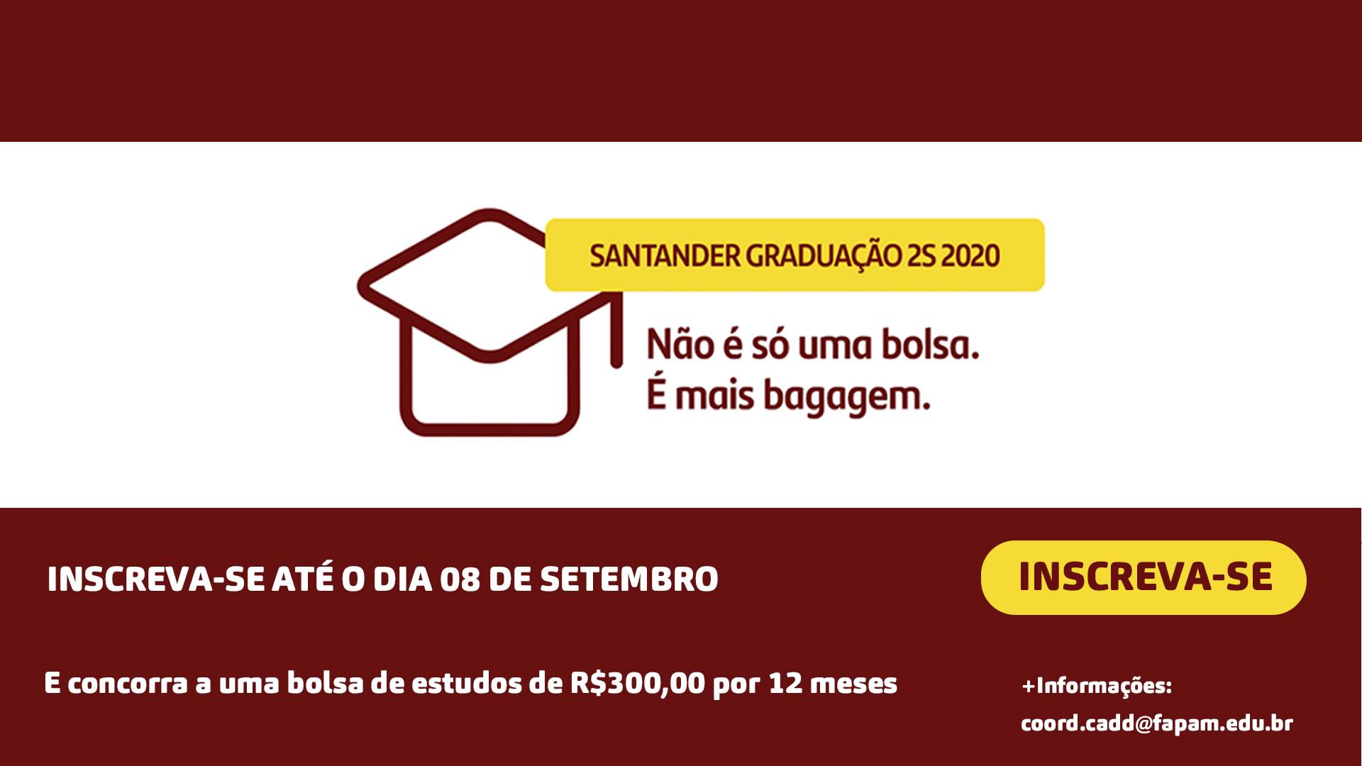 Santander Graduação 2S 2020 - FAPAM